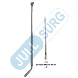 Buy Suction Micro Hook 45° With Suction 1.0mm