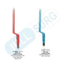 Buy Bipolar Coagulation Forceps Bayonet Type With Two Pins