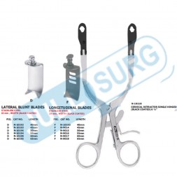 """Buy Cervical Retractor Single Hinged Black Coated 6 ½"""""""